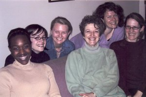 GFF's Kerry, Dorothy, Ann Gibson (advisor), Sarah, and Tanya ~ Nov. 2004