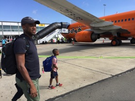 Boarding plane to Cape Town, South Africa. November 2016. Photo by Nikki A. Greene.