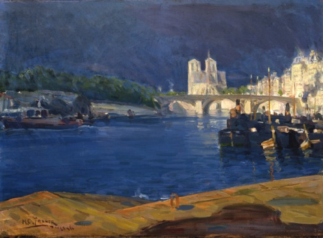 Henry O. Tanner, View of The Seine, Looking Toward Notre Dame, 1896