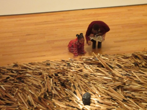 "Checking out Radcliffe Bailey's ""Windward Coast"" at the Davis Museum, March 2012"