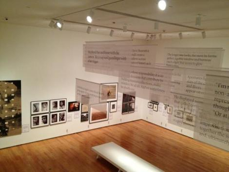 A Generous Medium: Photography at Wellesley 1972-2012 - view from ground floor balcony