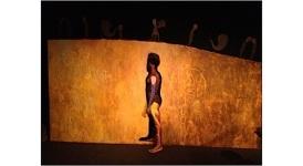 Manuel Mendive Performance at the Bertolt Brecht Cultural Center, Havana, Cuba.