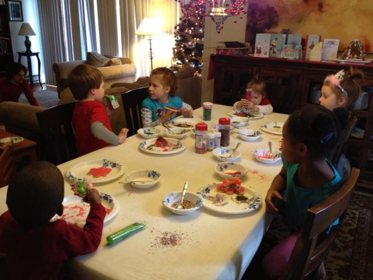 "Christmas cookie decorating with ""the village"" (December 2012)"
