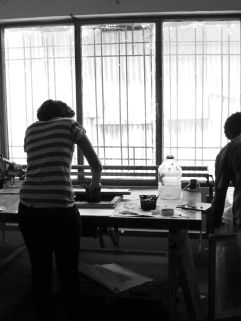 Printmaking Studio. Alle School of Fine Arts & Design. Photo by Nikki A. Greene.