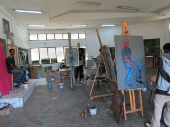 Painting Studio. Alle School of Fine Arts & Design. Photo by Nikki A. Greene