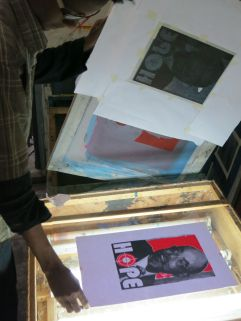 Printmaking Studio. Alle School of Fine Arts & Design. Photo by Nikki A. Greene.
