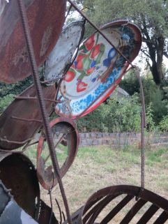 Tesfahun Kibru. Train (detail). Netsa Art Village. Addis Ababa, Ethiopia. Photo by Nikki A. Greene