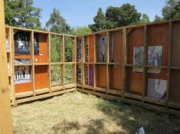 Netsa library under construction. Netsa Art Village. Photo by Nikki A. Greene.