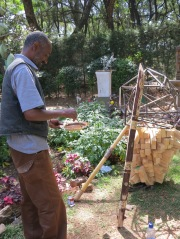 Daniel Alemayehu at work. Netsa Art Village. Photo by Nikki A. Greene.