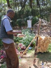 Daniel Alemayehu at work. Netsa Art Village. Photo by Nikki A. Greene.