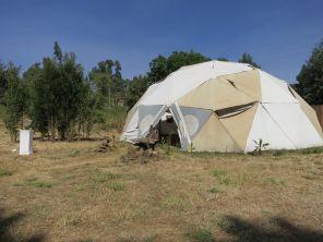 Pavilion under construction. Netsa Art Village. Addis Ababa. Photo by Nikki A. Greene.