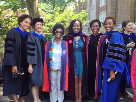 Drs. Brenna Greer, Layli Maparyan, Filomina Steady, Tracey Cameron, Angela Carpenter and Nikki Greene. May 2013. Copyright Nikki A. Greene.