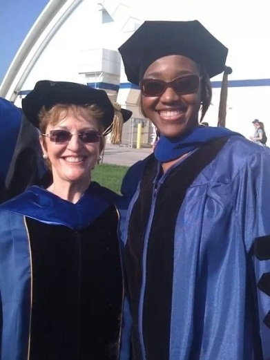 With my advisor, Ann E. Gibson, at my PhD graduation at the University of Delaware