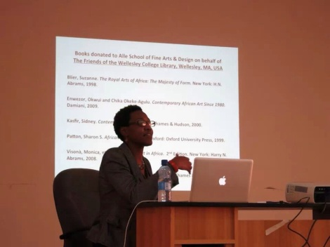 Teaching Art History at the Alle School of Fine Arts and Design at Addis Ababa Univeristy, Ethiopia.