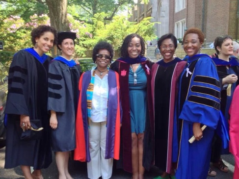 With my Wellesley College colleagues at graduation in May 2013. These professors hold PhDs in History, Anthropology, Education, Linguistics, and Psychology.