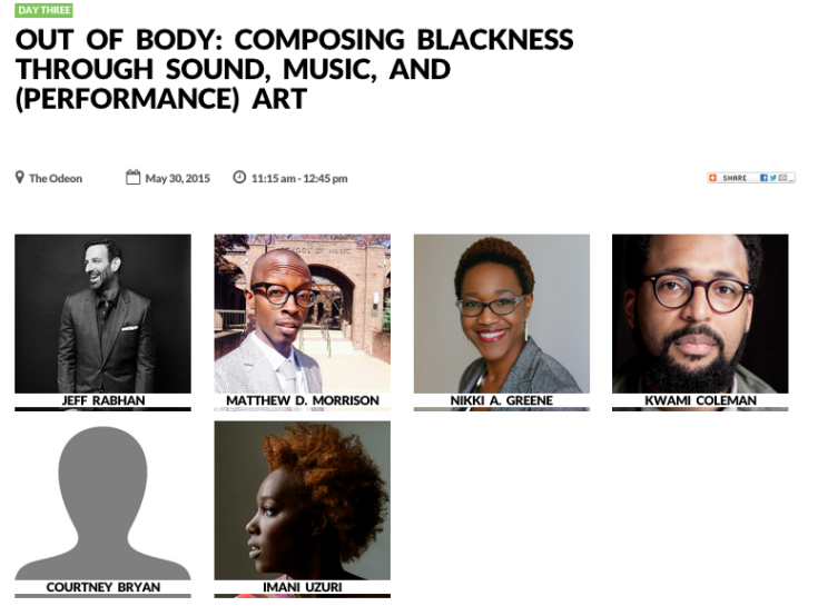 Out of Body: Composing Blackness