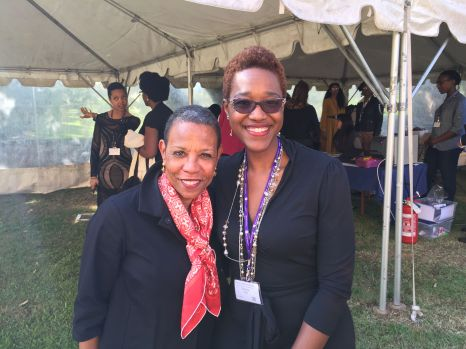 Dr. Mary Schmidt Campbell, Spelman College's new president w. Nikki A. Greene.