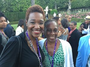 Chirlane I. McCray, 1st lady of NYC and Wellesley graduate with Nikki A. Greene