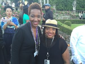 Dr. Deborah Willis and Dr. Nikki A. Greene. Black Portraitures Reception at La Villa Pietra.