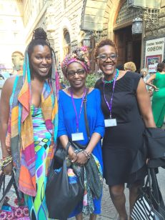 Imani and I meet feminist scholar Michelle Wallace. Black Portraitures II.