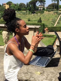 Jasmine E. Johnson at Villa La Pietra. Photo by Nikki A. Greene.