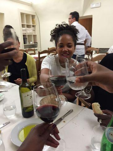 Celebratory last feast in Florence.